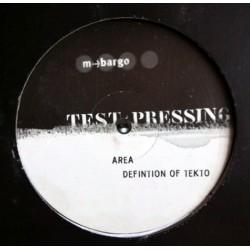 Area – Definition Of Tekto (EDICIÓN INGLESA)