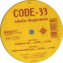 Code-33 – Tabular Desperation