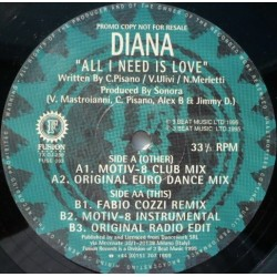 Diana ‎– All I Need Is Love