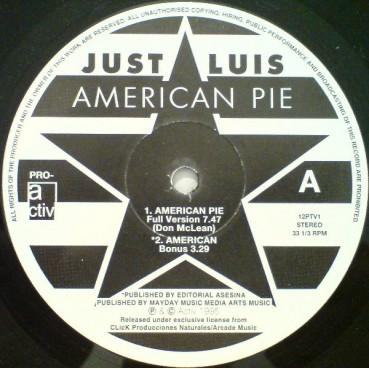 Just Luis – American Pie (Original + UK Remixes)