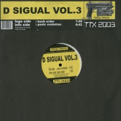 D Sigual ‎ Vol. 3 - Back Order / Panic Evolution