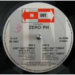 Zero PH ‎– Can't Wait Tonight