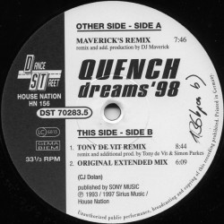 Quench ‎– Dreams '98