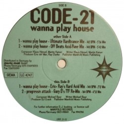 Code-21 ‎– Wanna Play House (UNITED RAVERS)