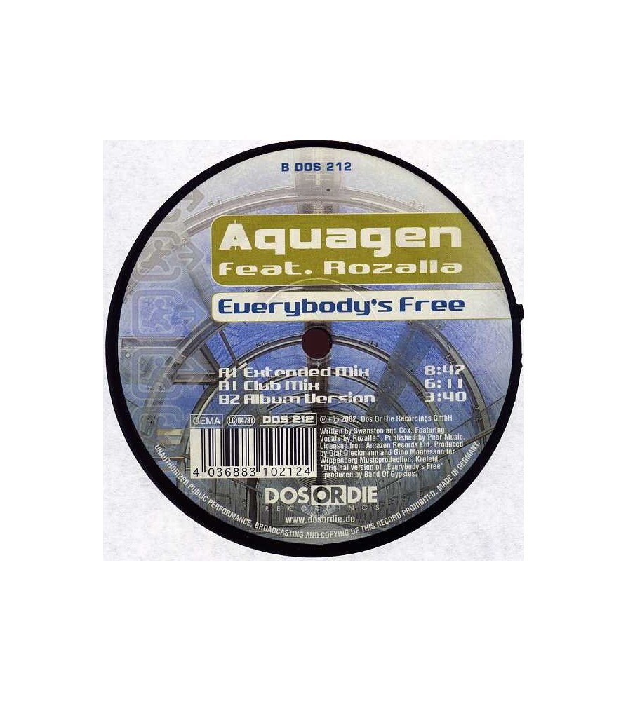 Aquagen feat. Rozalla - Everybody's Free(CABRA REMEMBER¡¡)