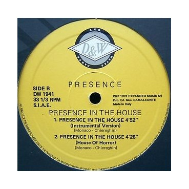Presence  – Presence In The House