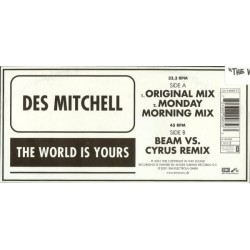 Des Mitchell ‎– The World Is Yours
