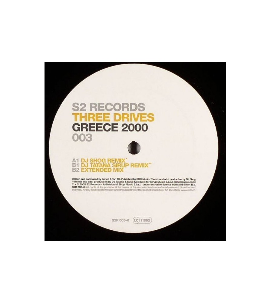 Three Drives On A Vinyl - Greece 2000(CLÁSICAZO¡¡)