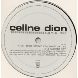 Celine Dion ‎– I Drove All Night