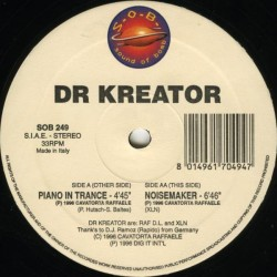 Dr Kreator ‎– Piano In Trance