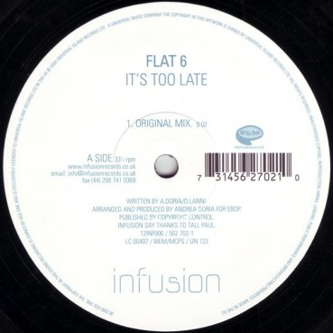 Flat 6 – It's Too Late (2 MANO,MELODIÓN¡¡)