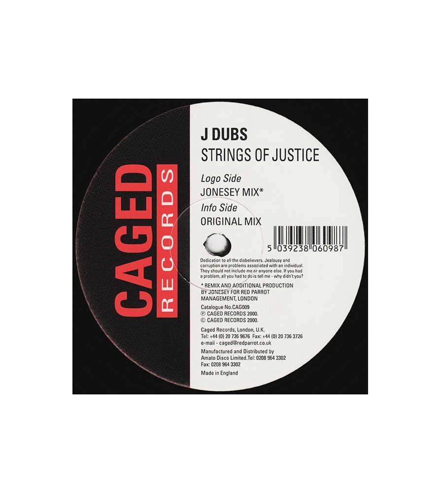 J Dubs ‎– Strings Of Justice