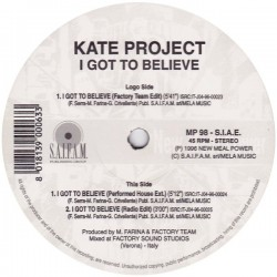 Kate Project - I Got To Believe