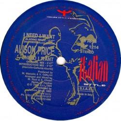 Alison Price - I Need I Want(2 MANO,ITALIAN STYLE¡¡)