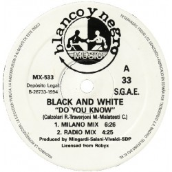Black & White  - Do You Know (CLÁSICO DE LOS 90¡¡)