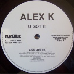 Alex K-U Got It(BASE ROCKOLA BUSCADISIMA,COPIA IMPORT COMO NUEVA¡¡)