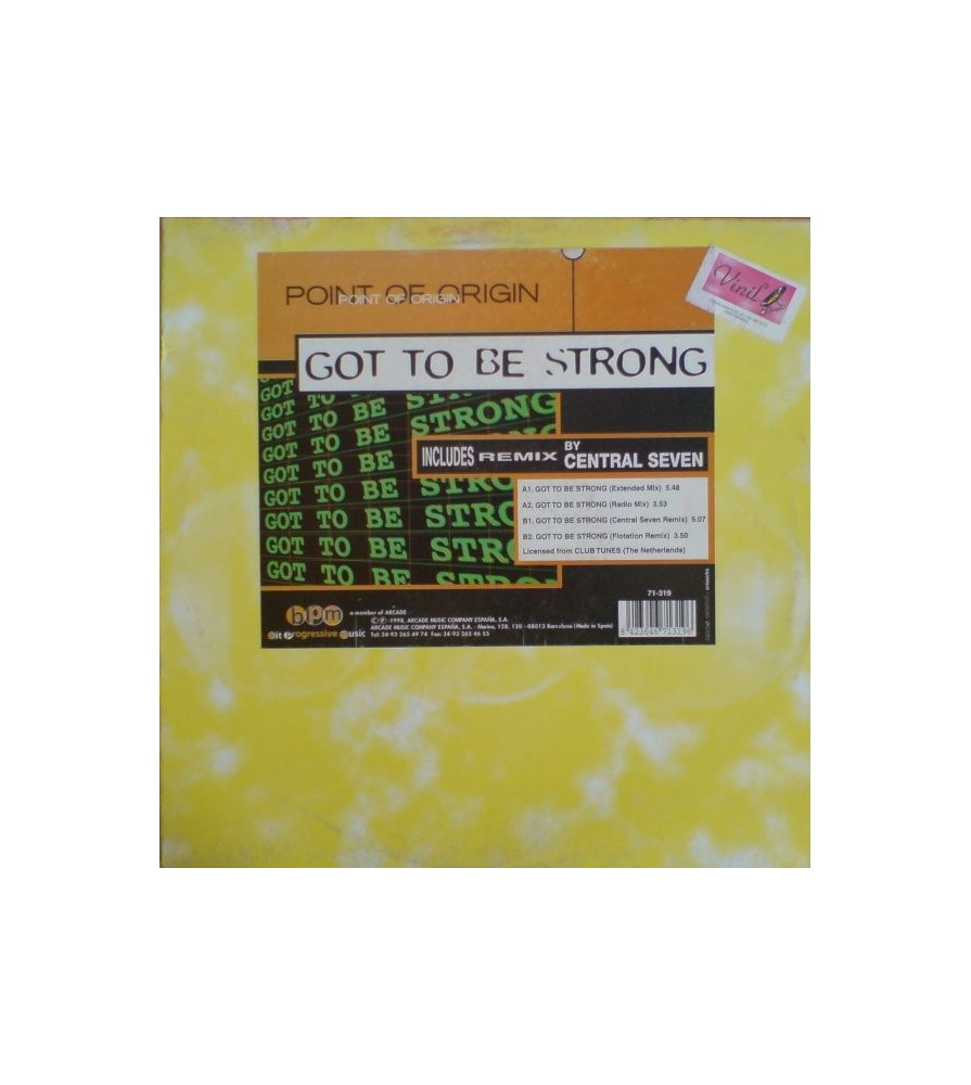 Point Of Origin - Got To Be Strong(2 MANO,NUEVECITO¡¡¡ MENUDA JOYA¡¡¡¡)