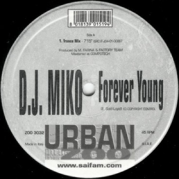 DJ Miko – Forever Young (TEMAZO REMEMBER,COPIA IMPORT NUEVA)
