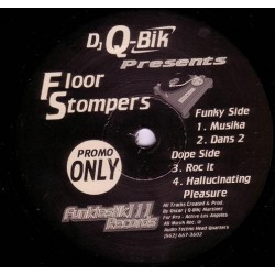 Q-Bik – Floor Stompers (2 MANO,DISCO ORIGINAL¡¡ PELOTAZO COLISEUM JAVI AZNAR¡¡)