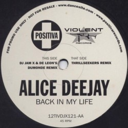 Alice Deejay – Back In My Life (REMIXES,COPIA IMPORT))