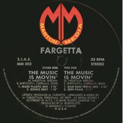 Fargetta – The Music Is Movin (2 MANO,COPIA IMPORT ITALIANA)